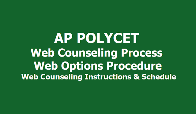 AP Polycet 2019 Web Counseling Process, Web Options Entry Instructions, Schedule