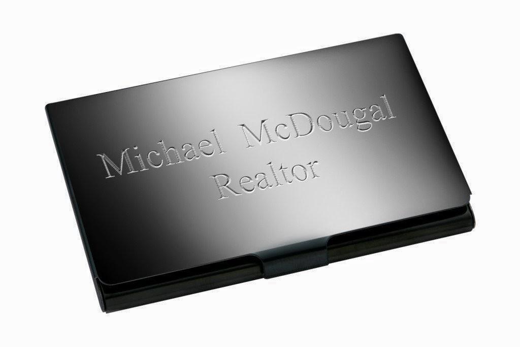 business card holder: engraved business card holder