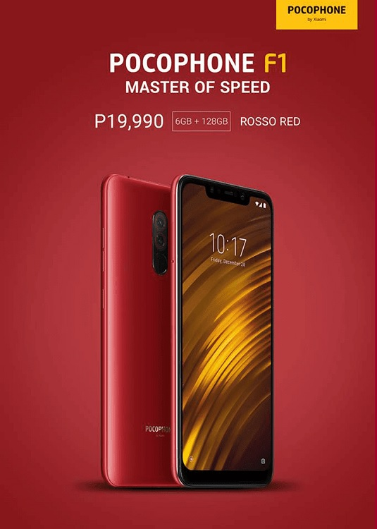 Pocophone F1 Rosso Red Now Available in PH