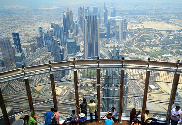 Dubai City View from Burj Khalifa