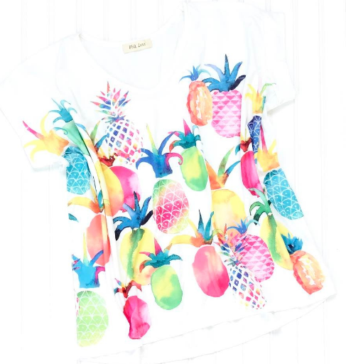 Pearl and Monroe pineapple shirt