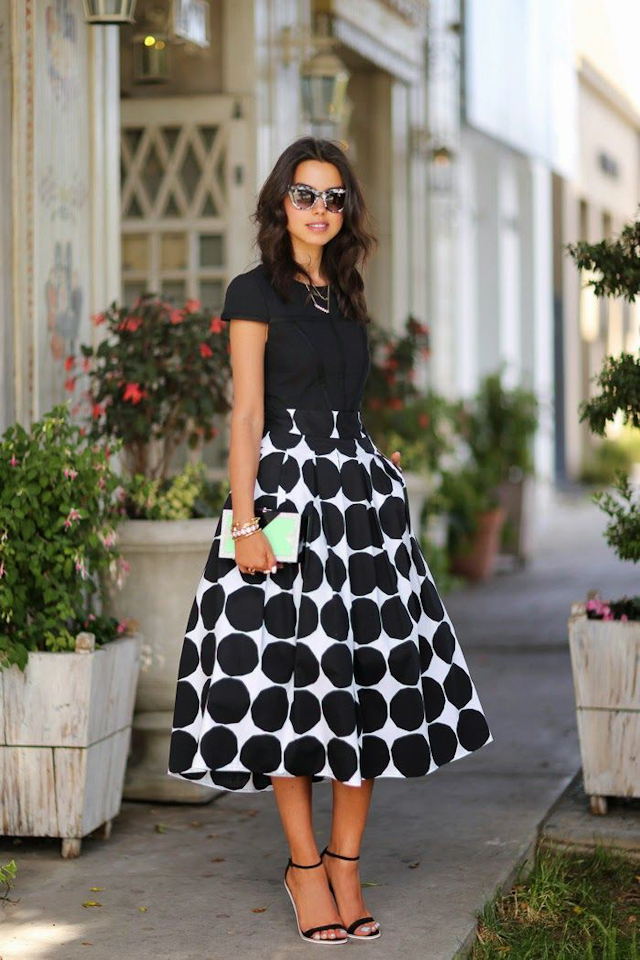 invitada boda blog vestido lunares topos polka dots dress skirt