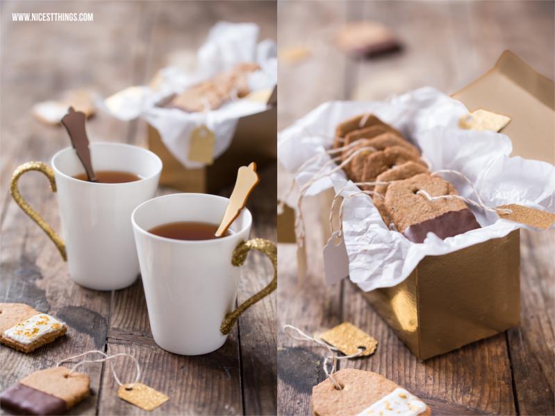 DIY Glitter-Tassen und Teebeutel-Kekse