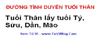 Tuoi Than lay tuoi Ty Suu Dan Mao