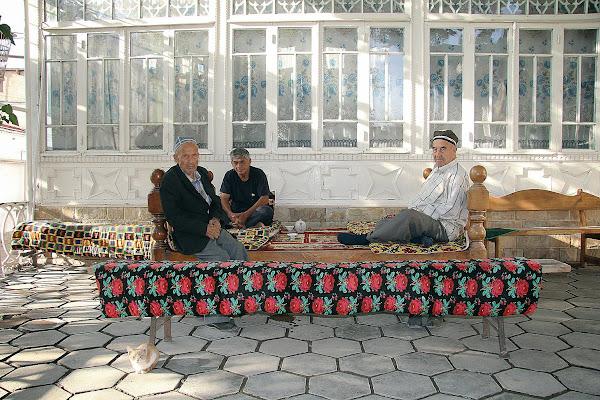 Ouzbékistan, Samarcande, Maison de mahalla Saïd Imam, tapshan, tapchane, © L. Gigout, 2012