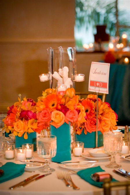 Orange And Aqua: Platinum Touch Events: {Color Crush} Coral + Aqua