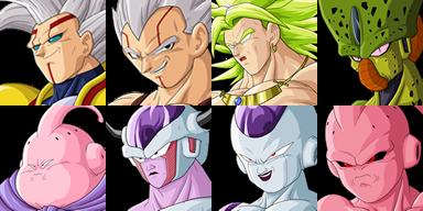 Graficos faciais Dragon Ball 1F3