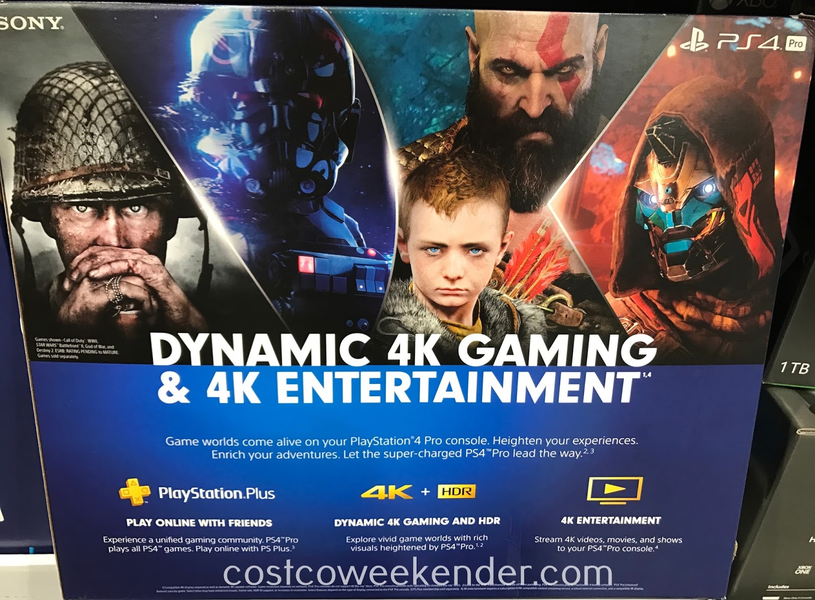 Costco 922370 - PlayStation 4 Pro: play games and stream video