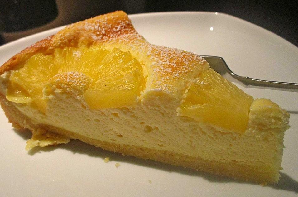 Backen Kochen Geniessen Ananas Quark Kuchen