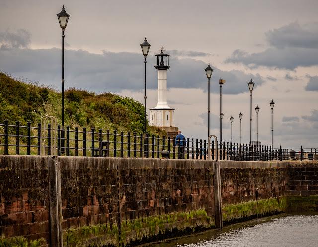 Photo of Maryport lighthouse on Wednesday evening