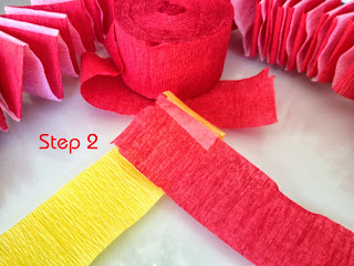 step two how to weaver paper streamers