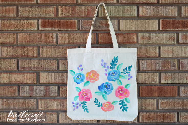 Learn to paint watercolors roses on fabric