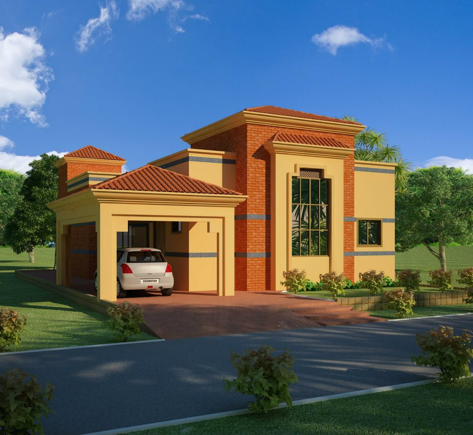 3D Front Elevation.com: Lahore Pakistan 3d Front Elevation