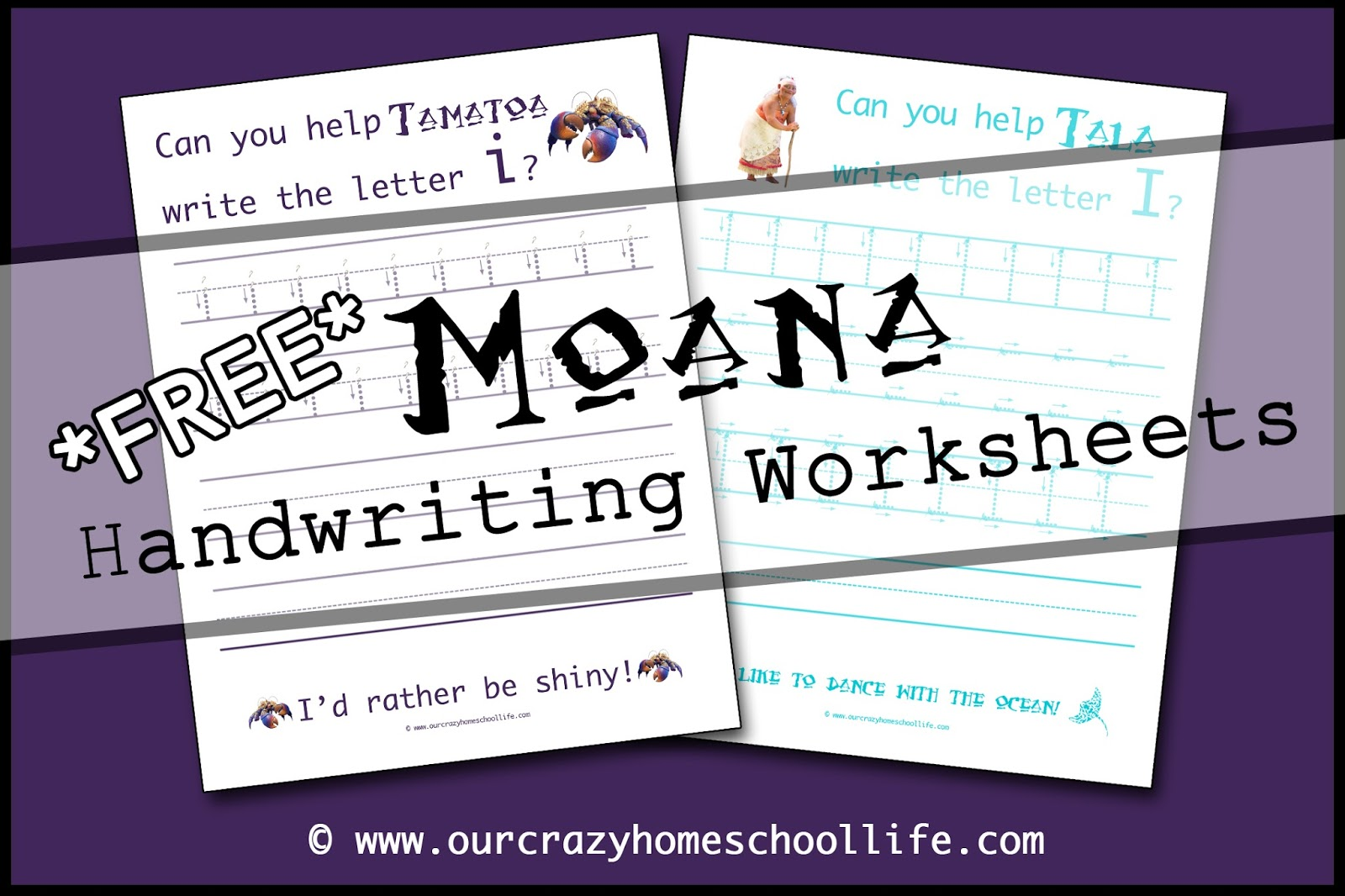 Weekly Free Moana Handwriting Worksheets Release The