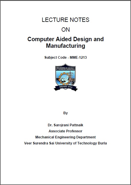 Www Pdfstall Online Lecture Notes On Computer Aided Design And Manufacturing