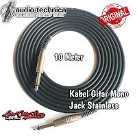 Kabel Gitar 10 Meter Jack Akai Mono Stainless Chrome