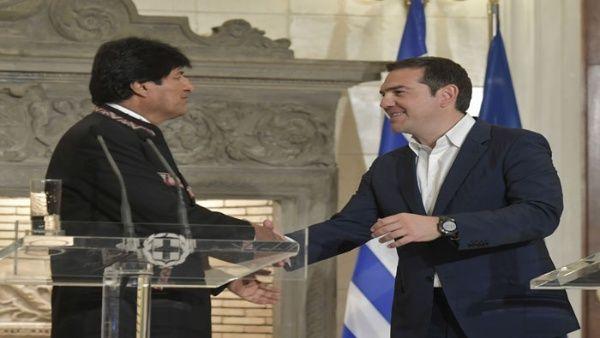 Primer ministro de Grecia apoyará demanda marítima de Bolivia