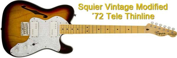 Guitarra Eléctrica Semisólida Squier Vintage Modified 72 Telecaster Thinline