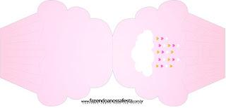 Tarjeta con forma de cupcake de Lluvia de Bendiciones para Nena.