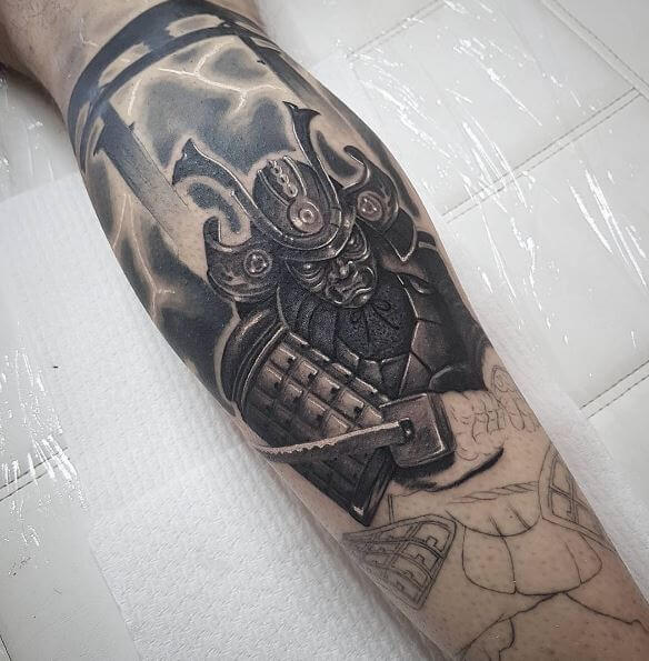 7f071585a The samurai sword (katana) plays a vital role in tattoo design so make sure  you show it in a shiny state.