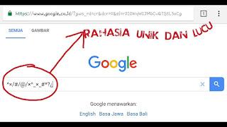 Google sebagai mesn pencari nomor satu saat ini tentunya banyak di gunakan oleh masyaraka Kode Rahasia Google Terbaru Untuk Anda