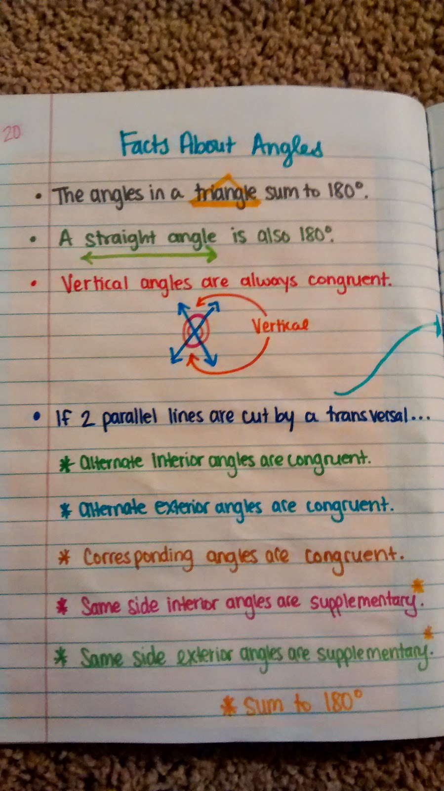 Math love trig interactive notebook pages for unit 1 algebra i borrowed the amazing kathryns angles formed by parallel lines cut by a transversal foldable robcynllc Choice Image