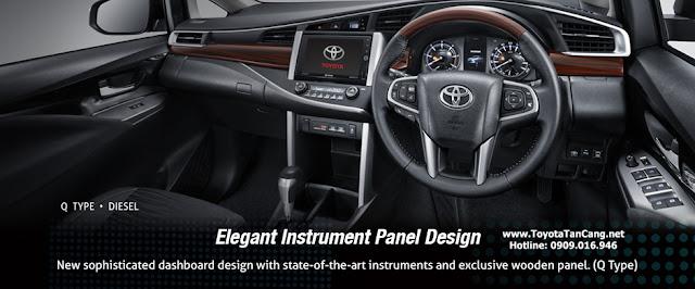 Nội thất Toyota Innova 2016 với rất nhiều trang thiết bị cải tiết đột phá, nhất là sự xuất hiện của nút đề Start/stop và chìa khoá thông minh