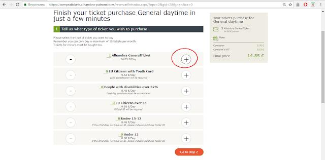 Jak zarezerwować bilet na Alhambrę na nowej stronie