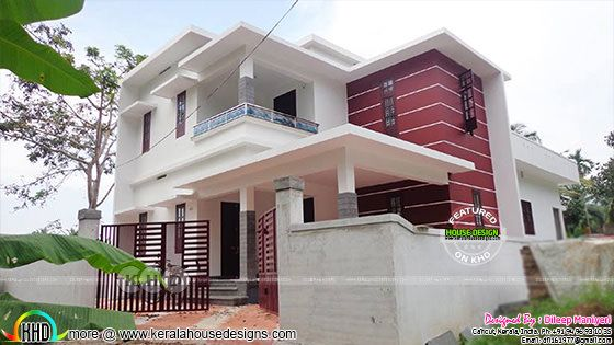 2145 square feet work finished modern house in Kerala