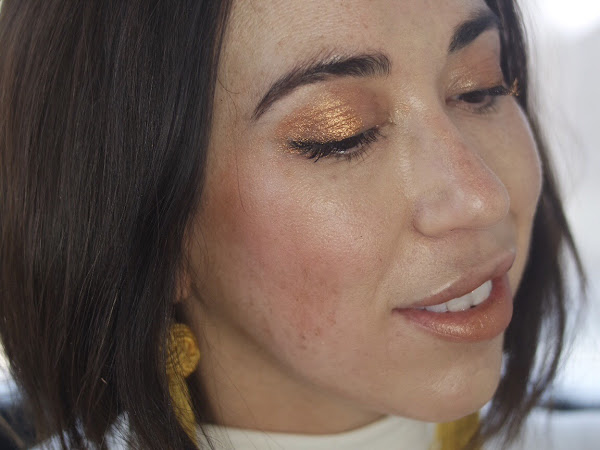 Metallic Holiday Party Makeup with Pat Mcgrath Metamorphosis and Glossier Haloscope