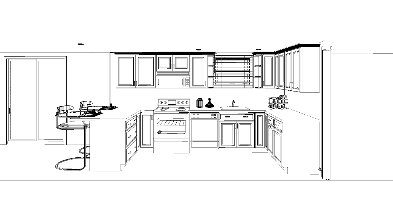 Refrigerator layout in kitchen home design and decor reviews - Free kitchen design software reviews ...