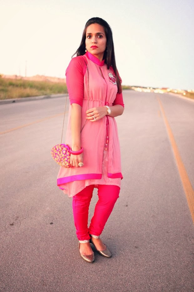 Salwar Kameez, India, DIwali, Hot Pink, Crazy & Co, Tanvii.com