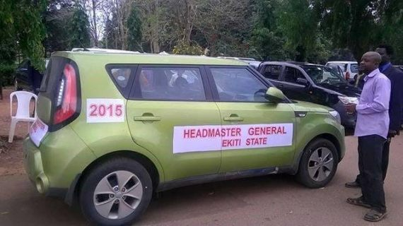 Ayo Fayose present cars to Ekiti teachers at world teachers day
