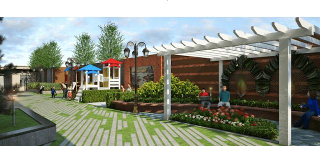 Cảnh quan sân vườn tại dự án Samsora Premier