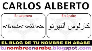 Como se escribe Carlos Manuel en arameo antiguo