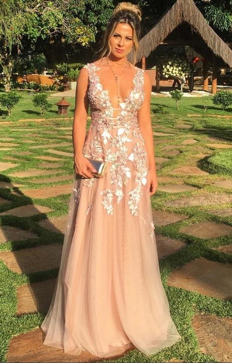 vestido madrinha de casamento campo