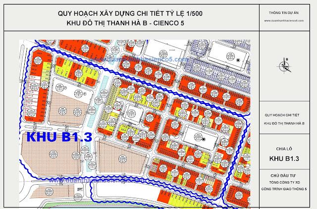 Vị trí chung cư B1.3 Thanh Hà