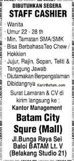 Lowongan Kerja Batam City Square Mall