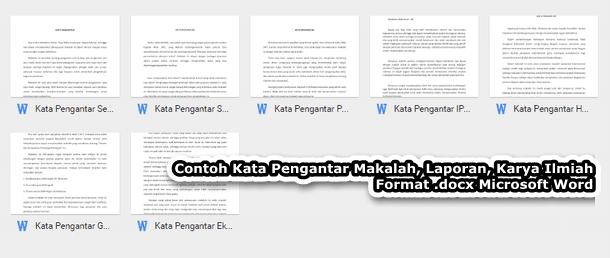 Contoh Kata Pengantar Makalah Laporan Karya Ilmiah Format Docx