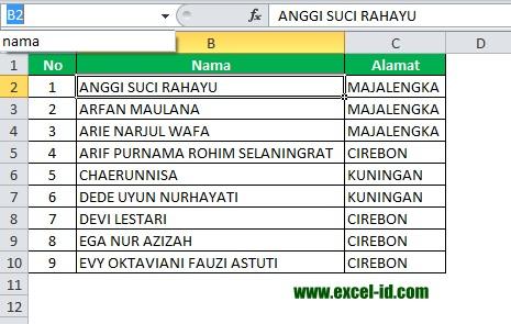 Cara Mengganti Nama Range (Name Range) pada Excel 2010