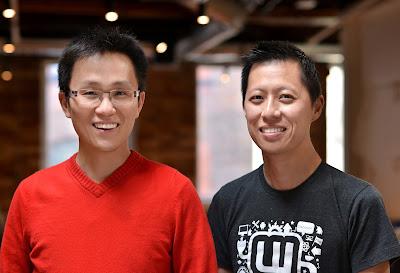 Cofundadores de la red social wattpad: Allen Lau e Ivan Yuen. Fotografía de la web oficial de wattpad.