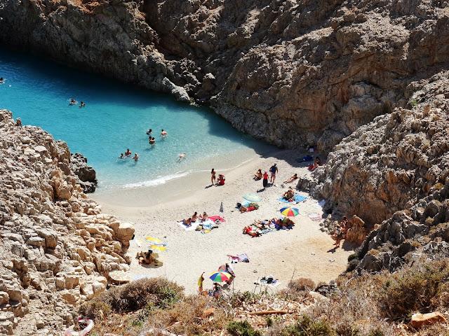 Porty Szatana Kreta jak wygląda plaża