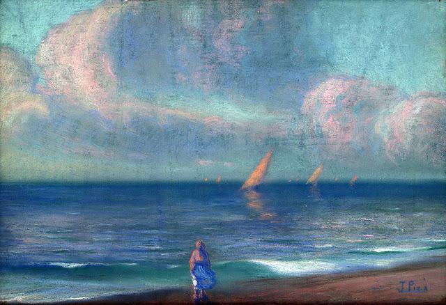 Joan Piza Canellas, Playa de Mallorca, Mallorca en Pintura, Mallorca pintada, Paisajes de Mallorca