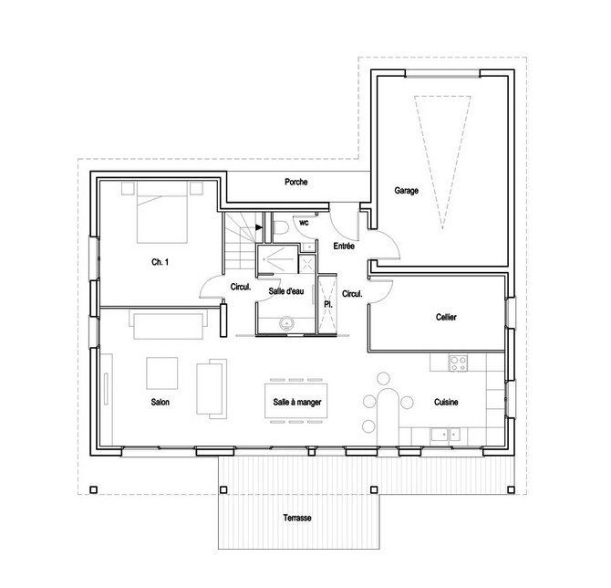 gambar denah rumah lantai 2 ideal 2