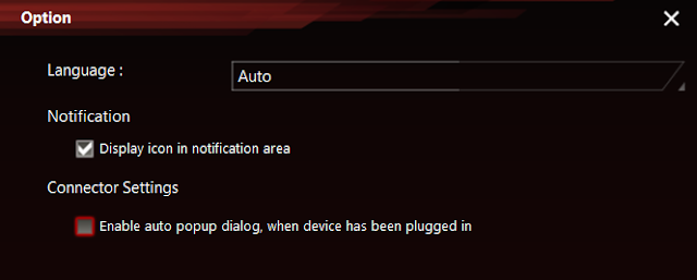 Disabling auto popup dialogue when a device has been plugged in to the headphone jack