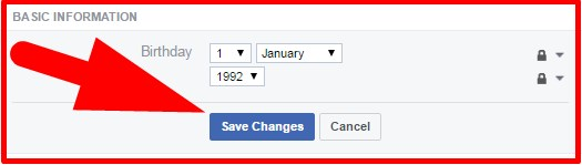 how to change birthday date in fb account