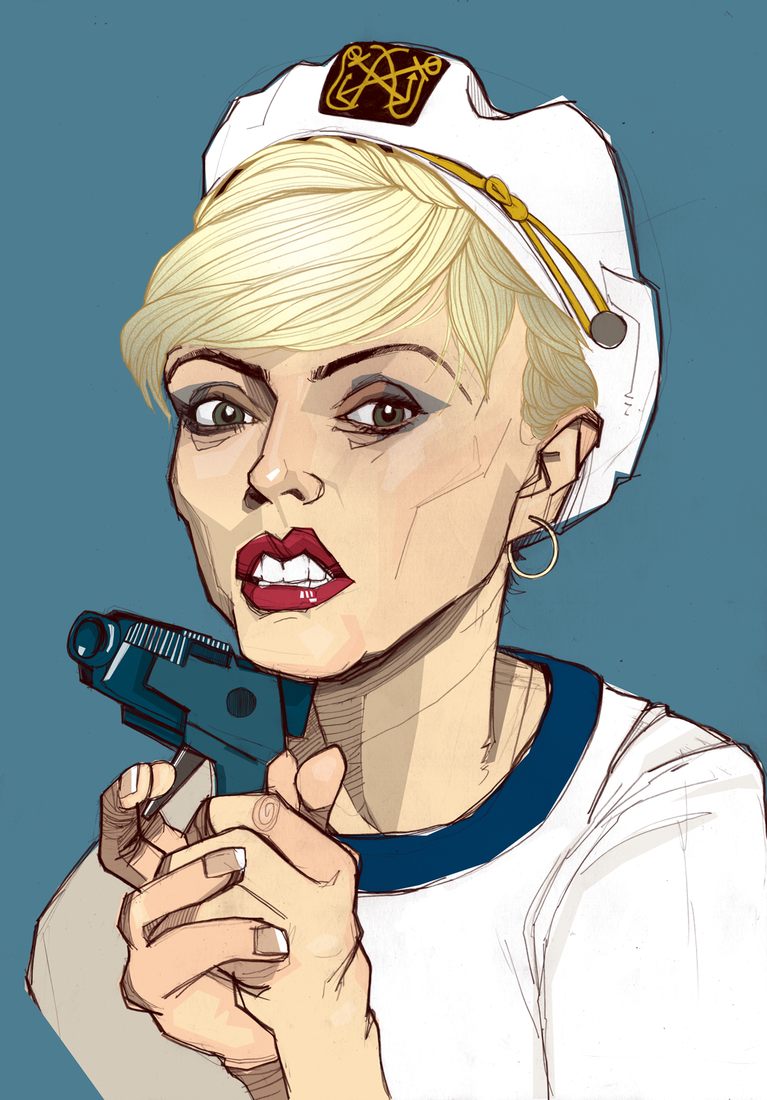 Portrait of Debbie Harry from Blondie