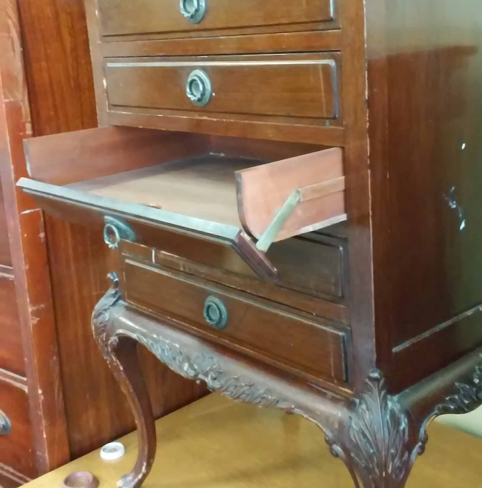 donate kitchen cabinets solid surface sinks uhuru furniture & collectibles: sold fancy chest with drop ...