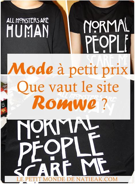 Avis sur le site mode  Romwe