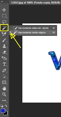 Herramienta Varita mágica en Photoshop